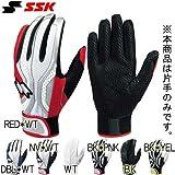 SSK(エスエスケイ) 一般用エンボス手袋(片手用) BG04ES BK*PNK 24-25L