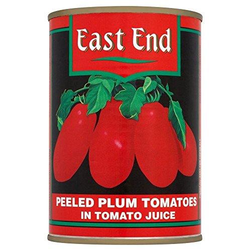 East End pelées tomates italiennes en jus de tomate (400g) - Paquet de 6