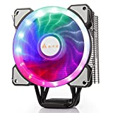 GOLDEN FIELD PBZ5 CPU Cooler Air Cooling Heastink with 4 Heatpipes & 120mm LED Fan CPU Radiator for Intel LGA 1151/1150/1155/1156 & AMD4 (Color: PBZ5, Tamaño: PBZ Series)