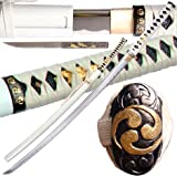 Ace Martial Arts Handmade White Zetsurin Samurai Katana Sword Sharp