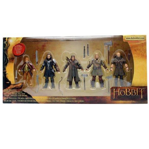 The Bridge Direct Hobbit Hero Pack - Bilbo, Thorin, Dwalin, Kili and Fili 3.75 Figures Action Play Toys