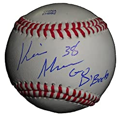 "Arizona Diamondbacks Kevin Munson Autographed ROLB Baseball Featuring ""Go D'Backs"" Inscription! Proof Photo"