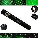Pushingbest Pointeur Laser Vert Laser Pen lumineuse réglable foucus 1mW 532nm 650nm 405nm astronomie puissant Laser