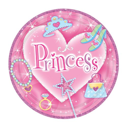 Princess Prismatic Dessert Plates (8 count) - 1