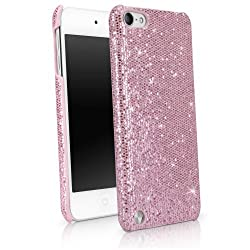 BoxWave Glamour & Glitz Apple iPod Touch (5th Generation) Case - Slim Snap-On Glitter Case Fun Colorful Sparkle Case for your Apple iPod Touch (5th Generation)! - Apple iPod Touch (5th Generation) Cases and Covers (Princess Pink)