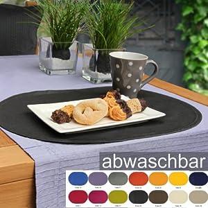 sander 58354 6 tischsets oval bistro folio silber hellgrau platin fb 21 abwaschbar lichtecht. Black Bedroom Furniture Sets. Home Design Ideas