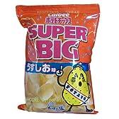 パーティサイズの大容量 カルビーCalbee ポテトチップス うすしお味 スーパービッグ SUPER BIG 500g入 自然結晶塩使用