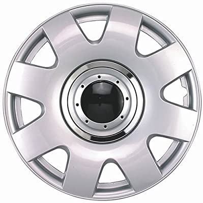 "Drive Accessories KT-1004-15S/C/B, Volkswagen Beetle, 15"" Silver w/ Black Center Replica Wheel Cover, (Set of 4)"