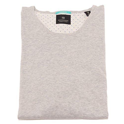 8447P maglione uomo SCOTCH & SODA CALIENTE cotone grigio sweater men [XL]