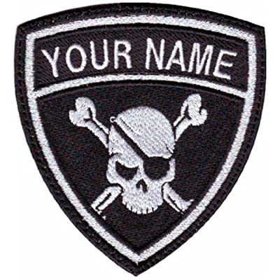 Pirate Custom Crest Flag (C) Name Embroidered Sew On Patch