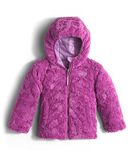 The North Face Toddler Girls` Reversible Mossbud Swirl Jacket Lupine Size 4T