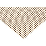 Bronze Woven Mesh Sheet, Unpolished (Mill) Finish, Standard Tolerance, Inch, ASTM E2016-06