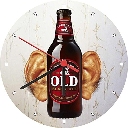 tooheys-old-black-ale-smooth-ear-wall-clock