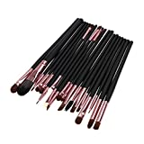 Chinatera 20pcs Make Up Tool Brush Kit Foundaton Eyeshadow Brushes Eyebrow (coffee golden)