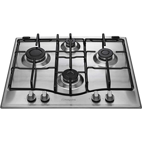 Hotpoint GC640IX Hob NewStyle 60cm Wide Gas 4 Burners Stainless Steel