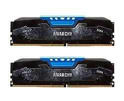 PNY Anarchy 16GB Kit (2x8GB) DDR4 2400MHz (PC4-19200) CL15 Desktop Memory (BLUE) - MD16GK2D4240015AB
