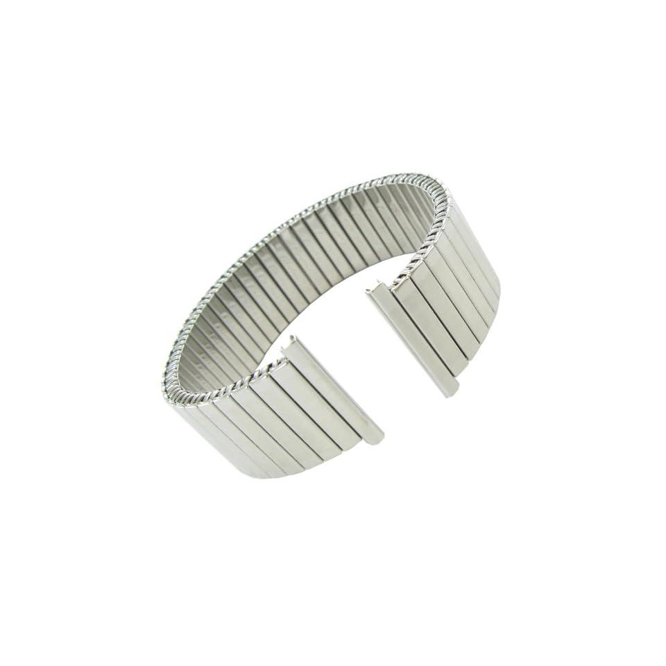 22mm Hirsch Stainless Steel Mens Twist O Flex Silver Tone Watch Band at  Men's Watch store.
