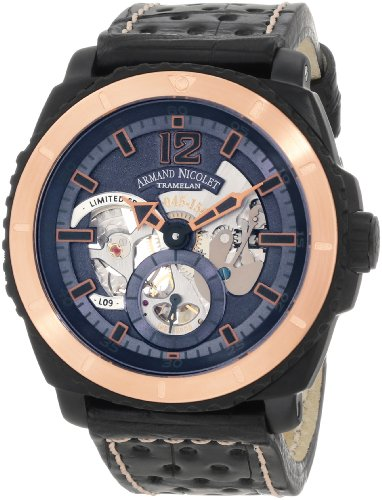 Armand Nicolet Men's S619N-BU-P760NR4 L09 Limited Edition Two-Toned (D.L.C. Black Titanium & Gold) Sporty Hand Wind Watch