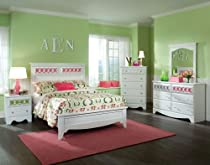 Hot Sale Standard Furniture My Room 5 Piece Panel Bedroom Set In White
