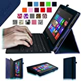 Fintie Folio Case for Microsoft Surface RT / Surface 2 10.6 inch Tablet Slim Fit with Stylus Holder (Does Not Fit Windows 8 Pro Version) - Navy