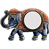 Divraya Wood Elephant Wall Mirror (45.72 Cm X 4 Cm X 30.48 Cm)