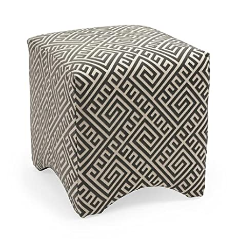 Graphic Ottoman in Gray