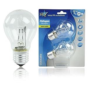 HQ Halogenlampe, Birne, E27, 230 V, 28 W, 2900 K, 370 lm, Dimmbar