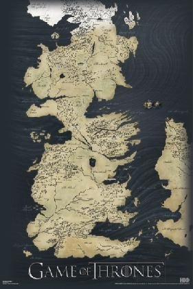 Seven Kingdoms Map Game Thrones Poster