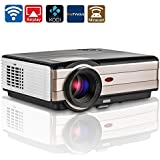 Video Projector, 3000 Lumens Wireless WiFi Home Theater Cinema, Full HD 1080P 720P Ready, With HDMI USB VGA TV...