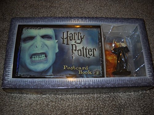 Harry Potter Postcard Book with Limited Edition Voldemort Figure - 1
