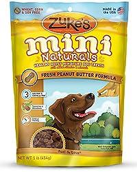 Zuke s Mini Naturals Dog Treats, Fresh Peanut Butter Formula, 16-Ounce