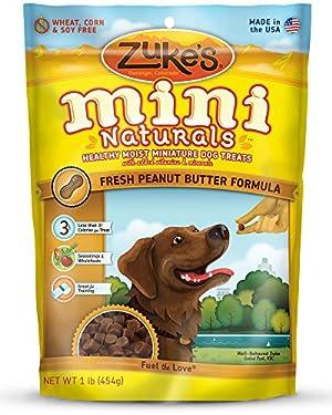 Zuke's Mini Naturals Dog Treats, Fresh Peanut Butter Formula