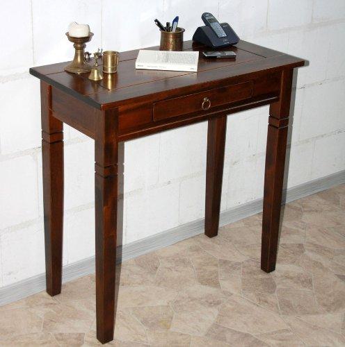Massivholz-Konsolentisch-Wandtisch-Beistelltisch-Holz-massiv-kolonial
