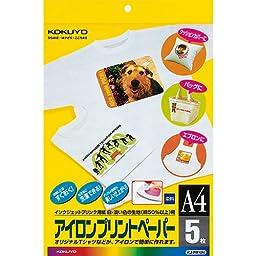 Kokuyo inkjet printer paper iron-on paper A4 5 sheets KJ-PR10N (japan import)