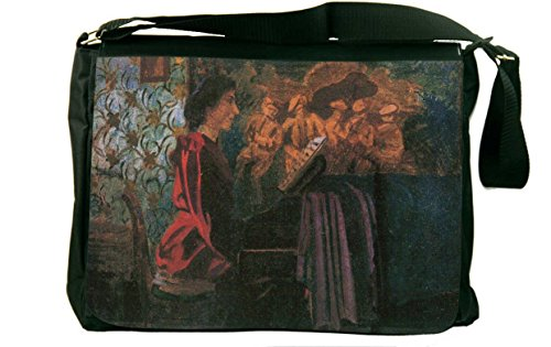 Rikki Knighttm Felix Vallotton Art The Piano Messenger Bag - Shoulder Bag - School Bag For School Or Work front-569570
