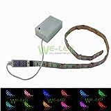 ATTYOU 防水 LED テープ ライト電池式 SMD5050 RGB 20色 ミニ調光器付き 0.5-2m 3*AAバッテリー【ATTYOUオンラインオリジナル商品】(50CM)