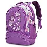 Hynes Eagle Sweetheart Pattern Kids' Backpack (Purple)
