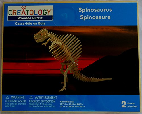 Creatology Wooden 3D Puzzle, Large Spinosaurus Dinosaur - 16.93 Inches Tall (1 Each) - 1