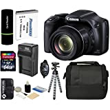 Canon PowerShot SX530 HS 16MP Super 50x Optical Zoom IS 1080p HD Video CMOS Digital Camera + Case + Spare Battery and Charger + Tripod + Hand Grip + 64GB Advanced Accessories Bundle
