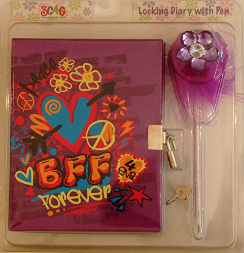 3cheers BFF Locking Diary & Pen - 1