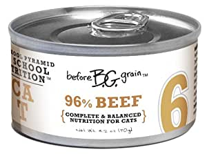 Merrick Before Grain #6 Beef Paté Style Cat Food, 3.2 Ounce Can (24 Count Case)