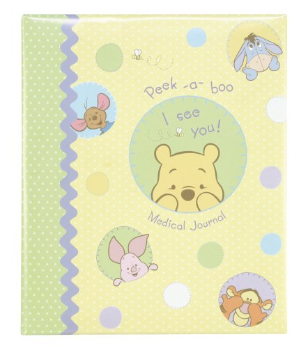 CR Gibson Peek-a-boo Pooh Medical Journal For Baby
