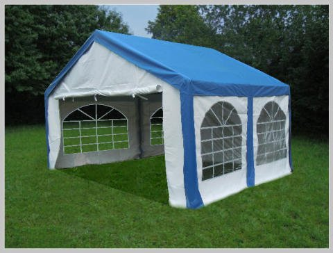 pavillon pavillion festzelt partyzelt modular pro pe 3 4 4 3 3x4m 4x3m mit fenster blau zelt test. Black Bedroom Furniture Sets. Home Design Ideas