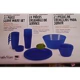 Creativeware 21pc Unbreakable Dinnerware Set-blue