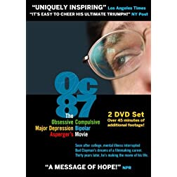 OC87:The Obsessive Compulsive, Major Depression, Bipolar, Asperger's Movie - 2 DVD Set