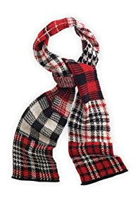 Green 3 Apparel Recycled Plaid Scarf (Red)