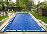 16'x32' Deluxe Rectangle In-ground Swimming Pool Winter Cover 10 Year w/Water Tubes