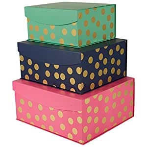 Amazoncom Decorative Nested Flip Top Storage Boxes