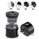 Travel Adapter by Seren Electronics, Travel Smart with an All In One Adapter USA, Euro, UK, and AUS Outlets.