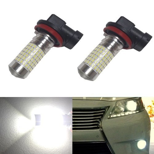 JDM ASTAR 1200 Lumens Extremely Bright 144-EX Chipsets H16 TYPE 2 (with 90 degree angle) LED Bulbs with Projector for DRL or Fog Lights, Xenon White (Fog Lights Toyota 2015 Corolla compare prices)